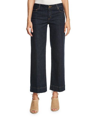 Topstitched Stovepipe Jeans, Indigo