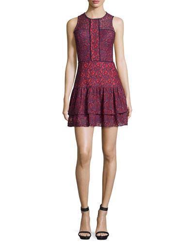 Nerissa Lace Combo Sleeveless Dress, Reef