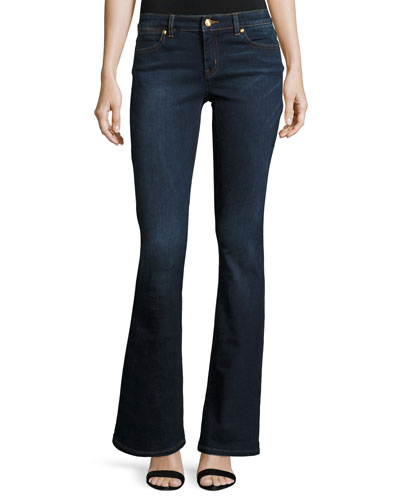Boot-Cut Denim Jeans, Midnight