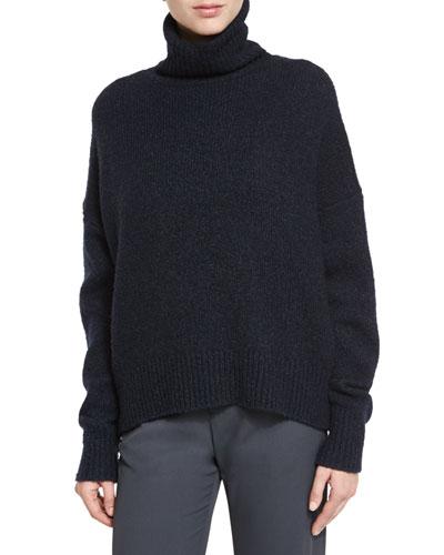 Oversized Knit Turtleneck Sweater,