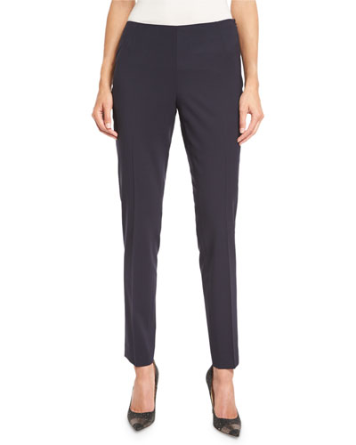 Stanton Stretch-Wool Cropped Pants, Ink