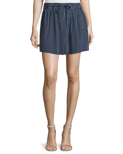 Wendolyn Striped Button-Front Skirt