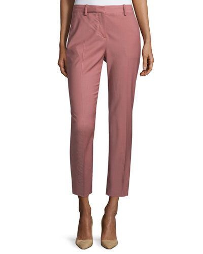 Treeca Cl. Continuous Cropped Pants, Pink Willow