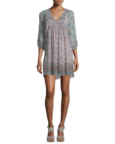 Foxley Floral-Print Silk Dress