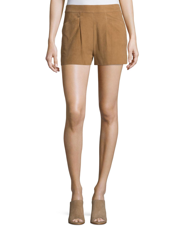 Lautaro Suede Shorts, Honey