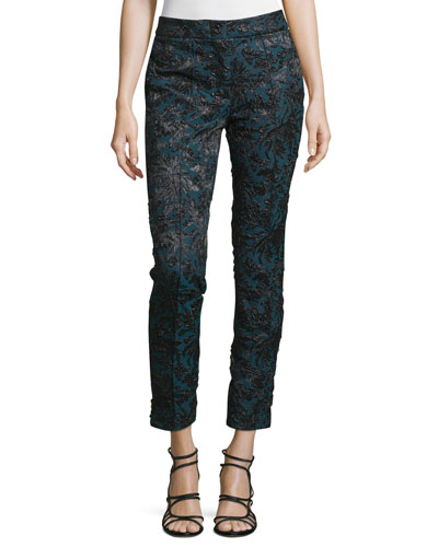 Mid-Rise Skinny Cropped Pants, Lave/Multi