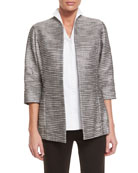 Silver Linings Metallic Jacket, Plus Size