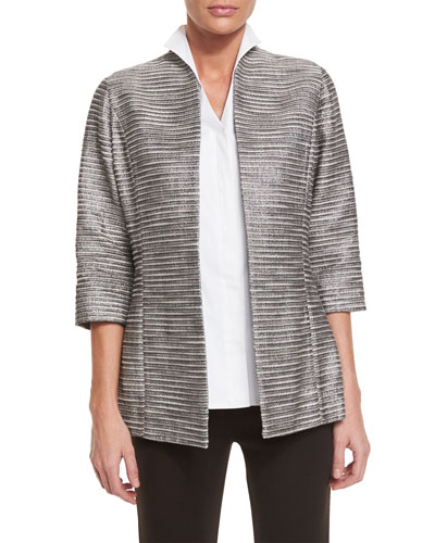 Plus Size Silver Linings Metallic Jacket