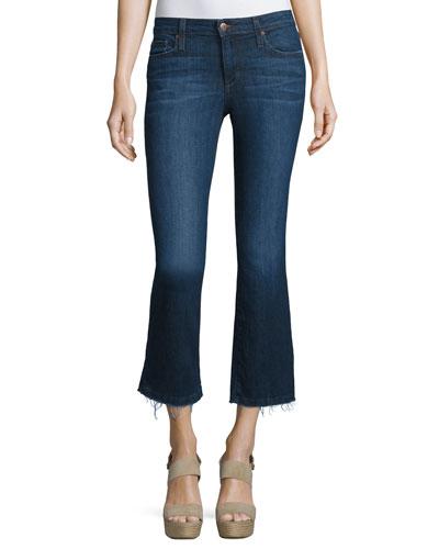 The Olivia Cropped Flare-Leg Jeans, Jerri