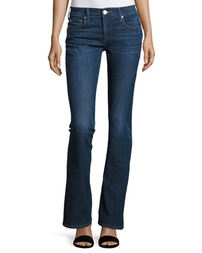 Becca Mid-Rise Boot-Cut Jeans, Worn Vintage