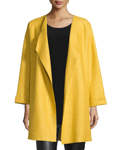 Lana Fantasia Topper Coat, Sunset Gold, Petite