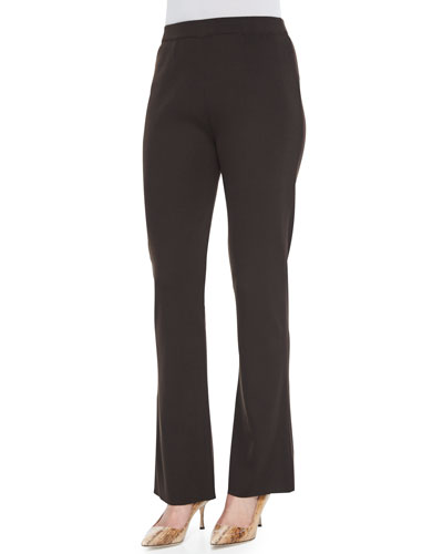 Mid-Rise Boot-Cut Pants, Coffee, Petite
