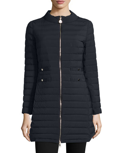 Aubritch Lightweight Quilted Long Puffer Coat