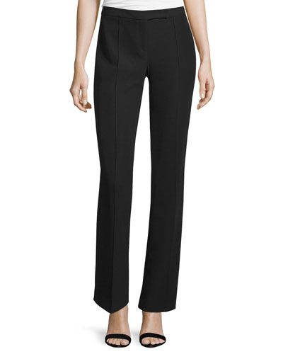 Mid-Rise Slim Boy Pants, Black