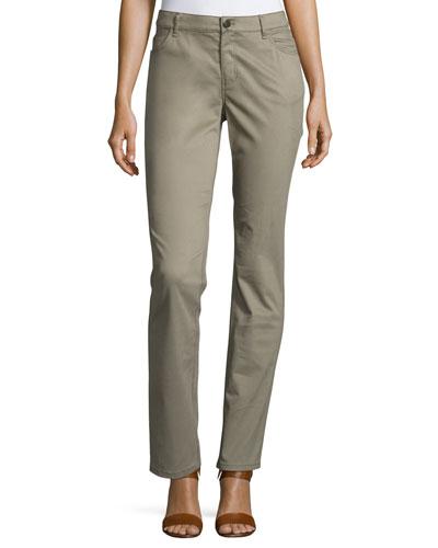 Thompson Slim Straight-Leg Jeans, Cobblestone