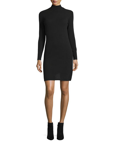 Cashmere Turtleneck Sweater Dress, Plus Size
