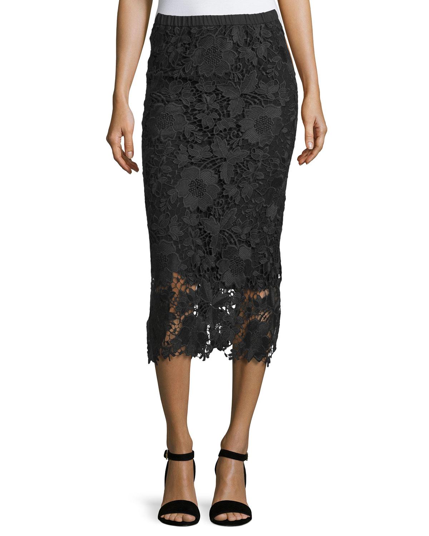 Maura Lace Skirt, Black