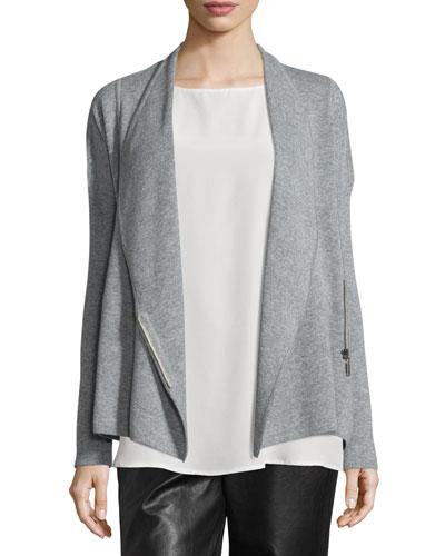 Cashmere Zip-Front Jacket