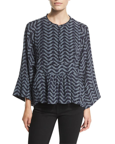Mesa 10 Thousand Waves Printed Blouse