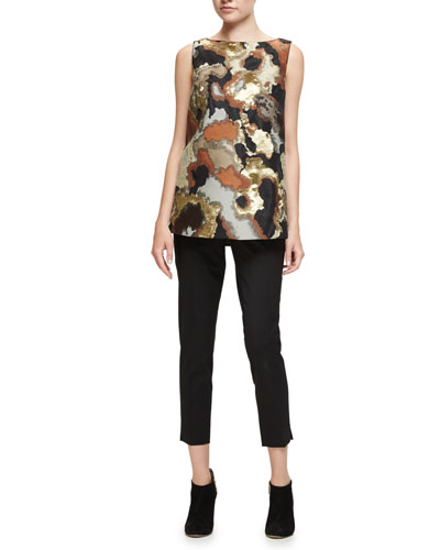 Toni Sleeveless Graphic-Print Blouse, Cider Multi