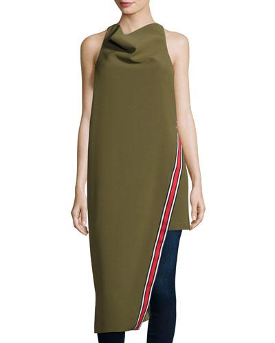 A Better Tomorrow Asymmetric Dress, Khaki