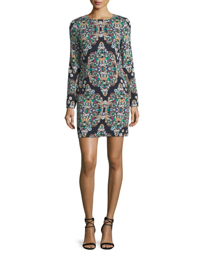 Resplendent Crystals Shift Dress, Multi