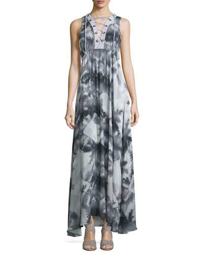 Shady Palms Printed Maxi Dress