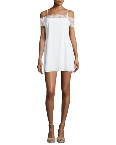 Stevie Lace Cold-Shoulder Mini Dress