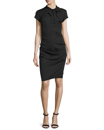 Kingston New Stretch Crepe Dress, Black