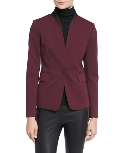 Archer Two-Tone Stretch Blazer, Port