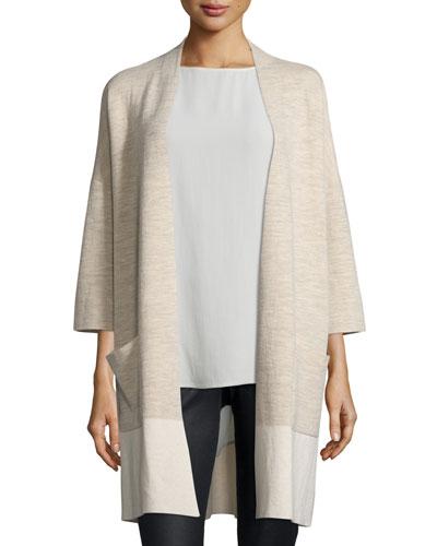 Double-Knit Kimono Cardigan, Plus Size