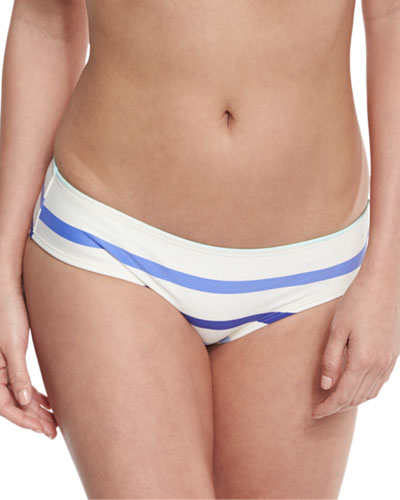 provincetown striped hipster swim bottom