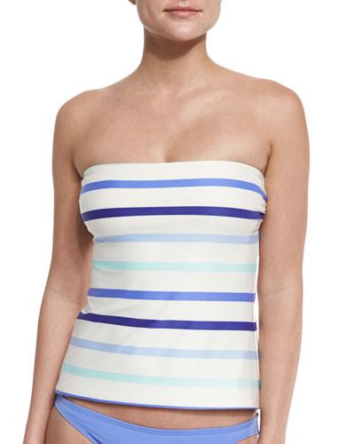 provincetown bow-back bandini swim top, adventure blue