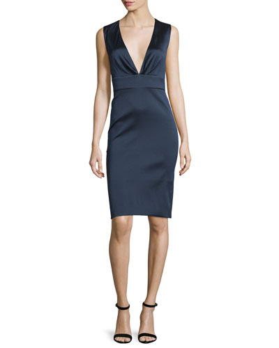 Sleeveless Bodycon Cocktail Dress, Sapphire