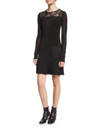 Seraphina Layered Lace Dress, Black