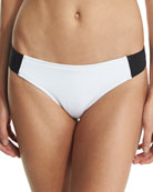 Stella Iconic Colorblock Swim Bottom, Black/White