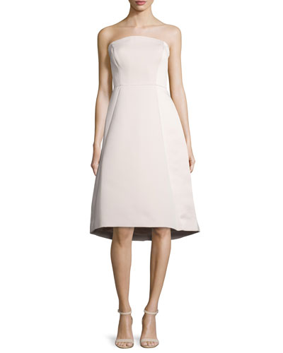 Strapless Structured Dress, Buff