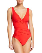 Serena Solid One-Piece Swimsuit