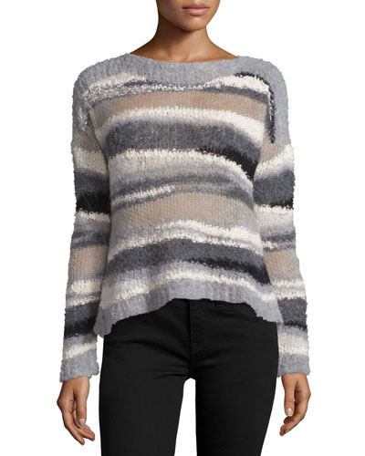 Dorian Striped Alpaca-Blend Sweater