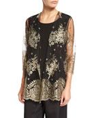 Luxury Lace Jacket, Gold/Black, Plus Size
