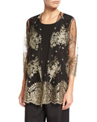 Luxury Lace Jacket, Gold/Black