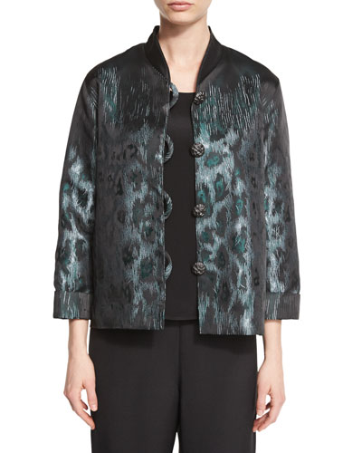 Animal Ice Jacquard Boxy Jacket, Petite