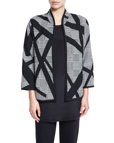 Intersection Houndstooth Boxy Jacket, Petite