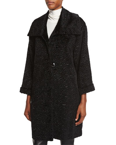 Playful Persian Faux-Fur Coat, Plus Size