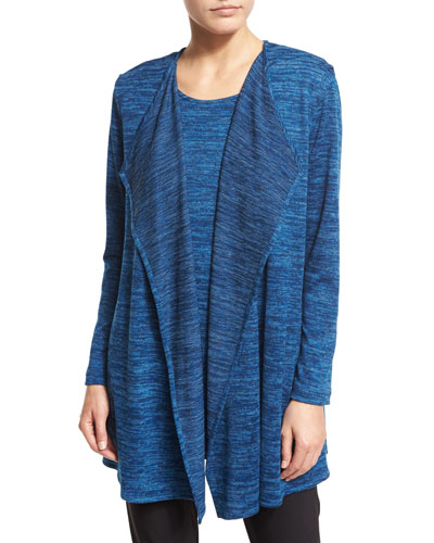 Lightweight Brushed-Knit Vest, Blue Lagoon