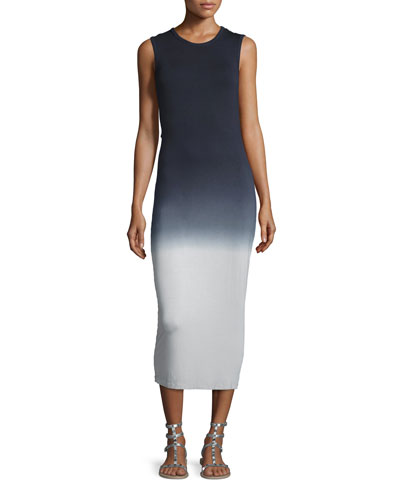 Marden Sleeveless Ombre Midi Dress