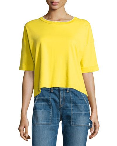 Alexa Pima Baby Tee, Bright Yellow
