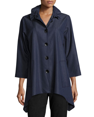 Essential Denim Shirt, Petite