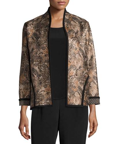 Glazed Paisley Jacket, Plus Size