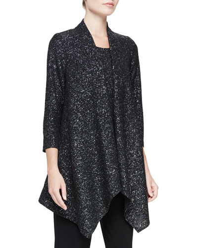 Starry Night Knit Cascade Jacket, Plus Size